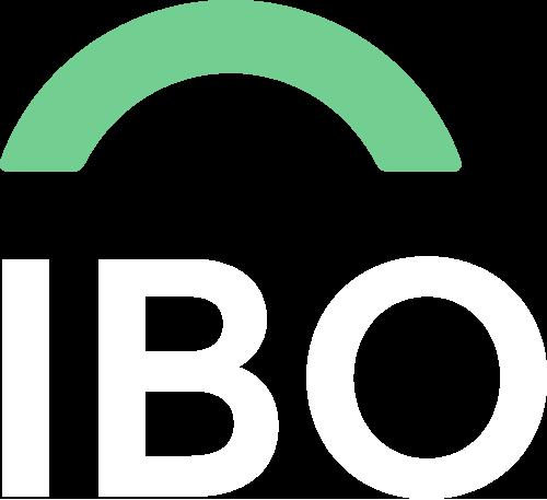 IBO logo negativo
